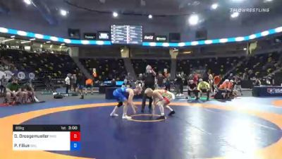 65 kg 7th Place - Dylan Droegemueller, Bison Wrestling Club vs Parker Filius, Boilermaker RTC