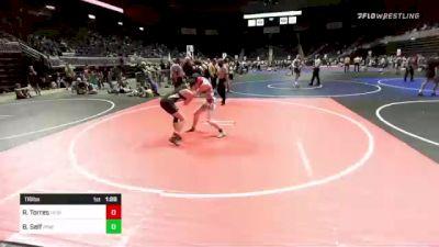 116 lbs Rr Rnd 2 - Rustie Torres, Heights WC vs Brittany Self, Pine Creek