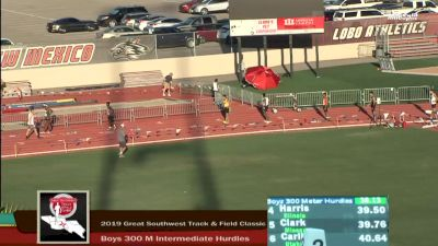 High School Boys' 300m Hurdles Elite, Finals 5