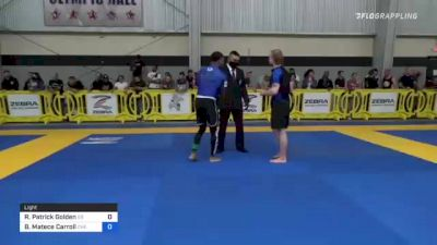Riley Patrick Golden vs Brelin Matece Carroll 2021 Pan IBJJF Jiu-Jitsu No-Gi Championship
