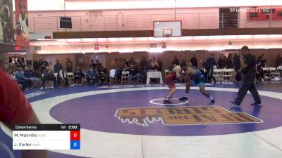 77 kg Consolation - Mason Manville, Nittany Lion Wrestling Club vs Jesse Porter, New York Athletic Club