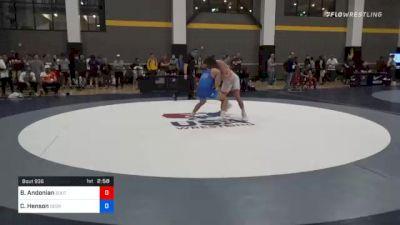 70 kg Quarterfinal - Bryce Andonian, Southeast Regional Training Center, Inc vs Caleb Henson, Georgia