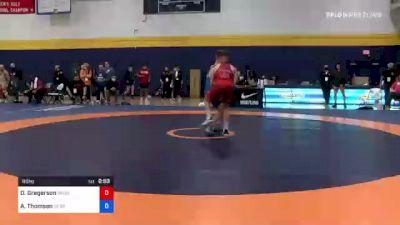 60 kg 3rd Place - Dylan Gregerson, Brunson UVRTC vs Alex Thomsen, Nebraska Wrestling Training Center