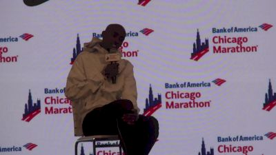 Mo Farah Reacts To Breaking The European Record With Chicago Marathon Win