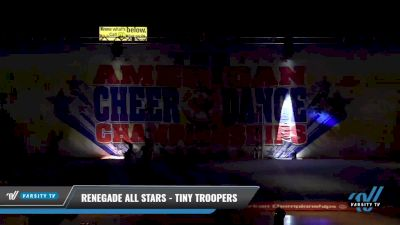 Renegade All Stars - Tiny Troopers [2021 L1 Tiny - D2 Day 1] 2021 The American Celebration DI & DII