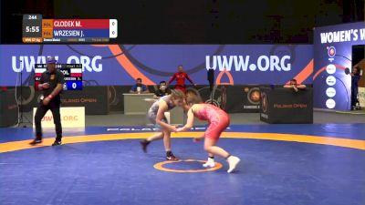 57 kg Bronze - Magdalena Glodek, POL vs Jowita Wrzesien, POL