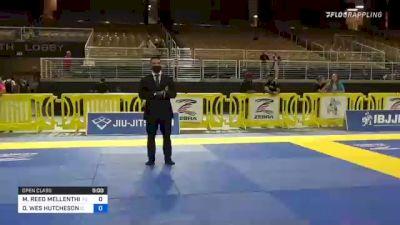 MICHAEL REED MELLENTHIN vs DAVID WES HUTCHESON 2021 Pan Jiu-Jitsu IBJJF Championship