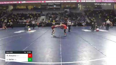 149 lbs Quarterfinal - Robert Areyano, Central College vs Josh Gerke, Coe College