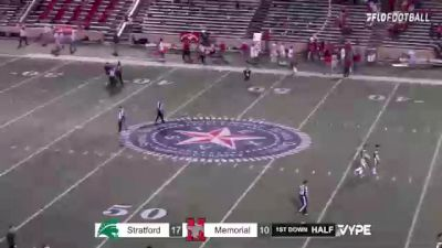 Replay: Houston Memorial vs Stratford | Oct 15 @ 7 PM