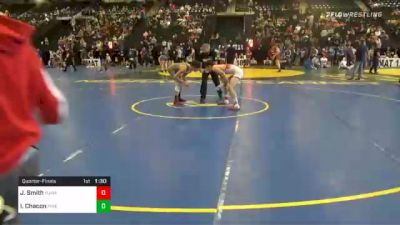 126 lbs Quarterfinal - John Smith, Yuma Wrestling vs Isaiah Chacon, Pine Creek High School