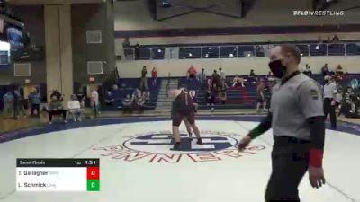 285 lbs Semifinal - Trevor Gallagher, Gettysburg vs Layton Schmick, Carlisle