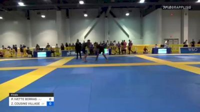 PAIGE IVETTE BORRAS vs ZAIRA COUSINS VILLASEÑOR 2021 American National IBJJF Jiu-Jitsu Championship