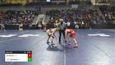 133 lbs Semifinal - Robbie Precin, North Central College vs Zach Thompson, Loras College