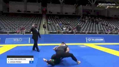 SARAH MALYNN COPELAND vs KATHERIN ARIAS PÉREZ 2021 World IBJJF Jiu-Jitsu No-Gi Championship
