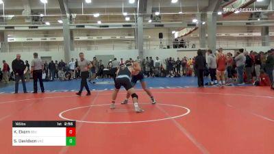 Quarterfinal - Kellen Ekern, Old Dominion vs Sawyer Davidson, UNC Unattached