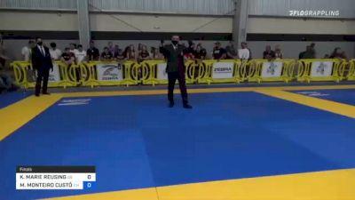 KENDALL MARIE REUSING vs MAYARA MONTEIRO CUSTÓDIO 2021 Pan IBJJF Jiu-Jitsu No-Gi Championship