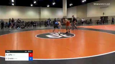 70 kg Prelims - Aj Jaffe, New England Regional Training Center vs Cory Crooks, Sunkist Kids Wrestling Club