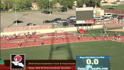High School Boys' 300m Hurdles Elite, Finals 4