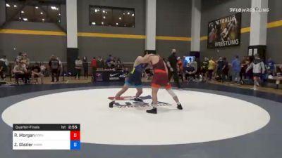 92 kg Quarterfinal - Rowan Morgan, Gopher Wrestling Club - RTC vs Zach Glazier, Hawkeye Wrestling Club