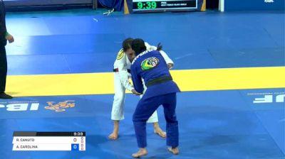RAQUEL CANUTO vs ANA CAROLINA VIEIRA 2018 World IBJJF Championship