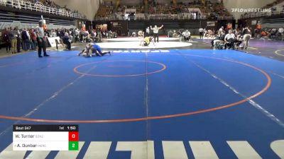 160 lbs Prelims - William Turner, Gonzaga vs Aurelius Dunbar, Mercersburg Academy
