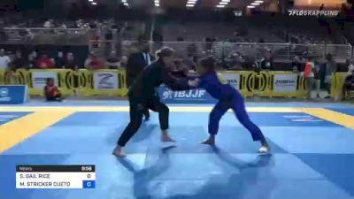 SARAH GAIL RICE vs MELISSA STRICKER CUETO 2021 Pan Jiu-Jitsu IBJJF Championship