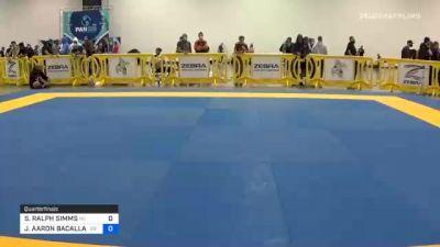 STEPHEN RALPH SIMMS vs JOSHUA AARON BACALLAO 2020 IBJJF Pan No-Gi Championship