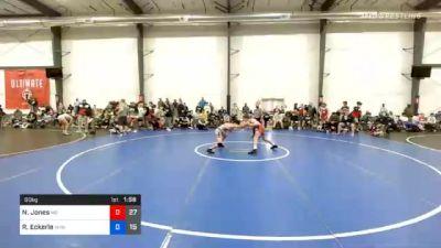 60 kg Quarterfinal - Nicholas Jones, M2 Black vs Ryan Eckerle, VHW