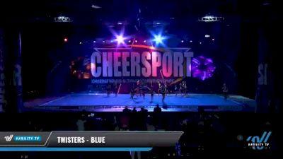 Twisters - Blue [2021 L2 Junior - Small - B Day 2] 2021 CHEERSPORT National Cheerleading Championship