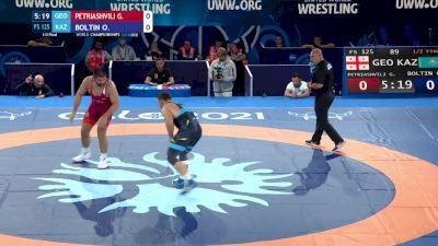 125 kg Semifinal - Geno Petriashvili, Georgia vs Oleg Boltin, Kazakhstan