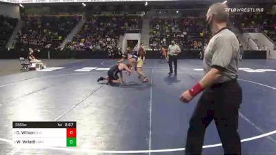 285 lbs Semifinal - Dominick Wilson, Olivet College vs Wyatt Wriedt, Loras College