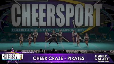 Cheer Craze All Stars - Pirates [2020 L6 Senior XSmall Coed Day 1] 2020 CHEERSPORT Nationals: Friday Night Live