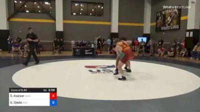 67 kg Consolation - Dallas Koelzer, Kansas vs Gabriel Ojeda, North Dakota