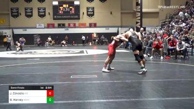 174 lbs Semifinal - Jacob Covaciu, Indiana vs Ben Harvey, Army