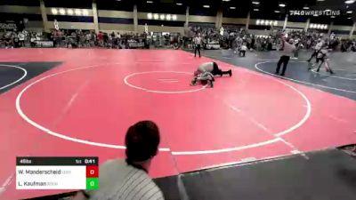 46 lbs Final - Waylon Manderscheid, Legacy Elite WC vs Levi Kaufman, Roundtree Wr Ac