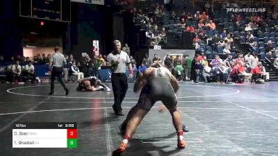 197 lbs Prelims - Dakota Geer, Oklahoma State vs Taye Ghadiali, Campbell