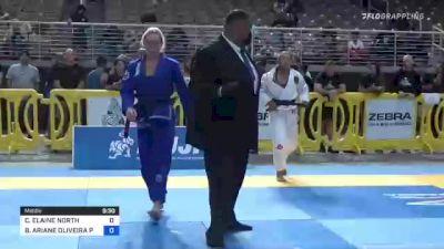CLAIRE ELAINE NORTH vs BRENDA ARIANE OLIVEIRA PALHETA 2021 Pan Jiu-Jitsu IBJJF Championship
