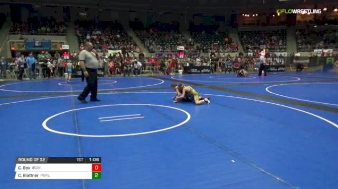 61 lbs Round of 32 - Clark Box, Ironclad Wrestling vs Cole