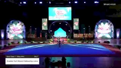 Greater Fort Myers Fellowship Lions [2020 Core Cheer 1 - Mitey Mite Day 1] 2020 Pop Warner National Cheer & Dance Championship