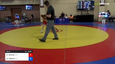 55 kg Quarters - Elijah Varona, Garage Boys vs Dylan Koontz, OSC-Unattached