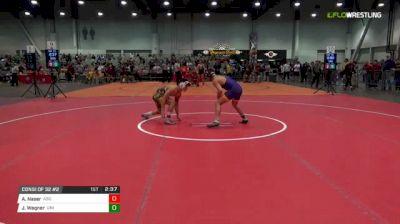 133 lbs Consi of 32 #2 - Ali Naser, Arizona State vs Jack Wagner, University Of Northern Iowa
