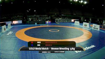 57 kg Odunayo Adekuoroye, NGR vs Anshu Anshu, IND