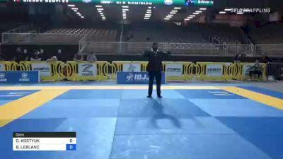OLEKSANDR KOSTYUK vs BRENT LEBLANC 2021 Pan Jiu-Jitsu IBJJF Championship