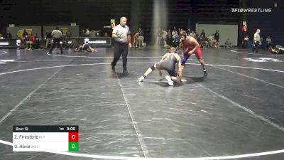 141 lbs Prelims - Zach Firestone, Rutgers vs Dusty Hone, Oklahoma State