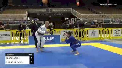 MICHELLE SPARACIO vs SHARON CERELLE EMDE 2020 World Master IBJJF Jiu-Jitsu Championship
