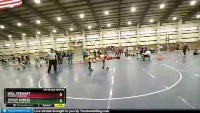 132 lbs 5th Place Match - Tatum Garcia, New Mexico Bad Boyz vs Will Stewart, Wildcat Wresting