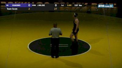 197 lbs m, Zack Chakonis, Northwestern vs Cash Wilcke, Iowa