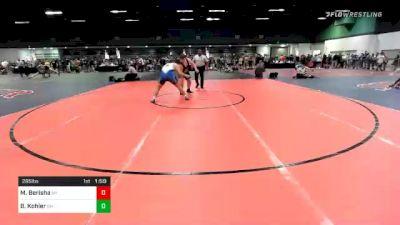 285 lbs Consolation - Marc Berisha, NY vs Ben Kohler, OH