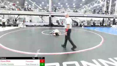 125 lbs Consolation - Blase Mele, Princeton vs Hunter Gundry, Raw (Raleigh Area Wrestling)