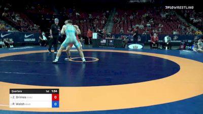 77 kg Quarters - Zachary Grimes, New York Athletic Club vs Peyton Walsh, Marines